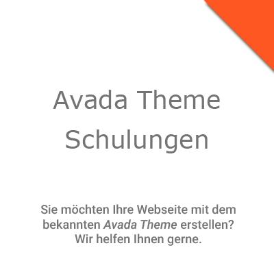 Wordpress Avada Theme Schulungen