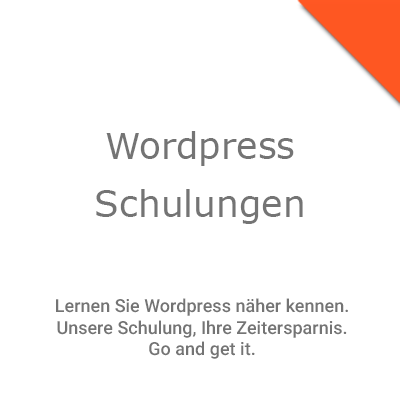 Wordpress Schulungen